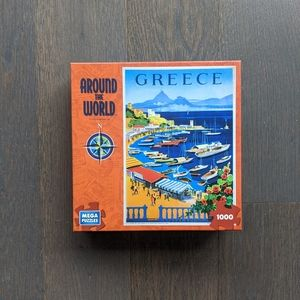 FREE 1000 Piece Greece Travel Poster Puzzle